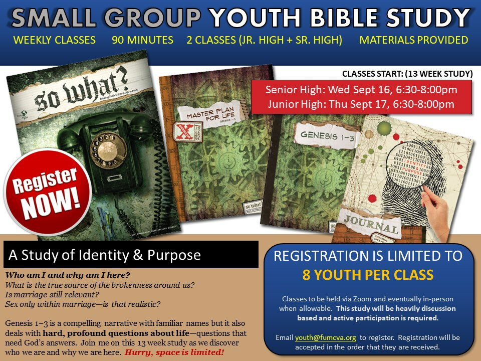 Small Group Youth Bible Studies
