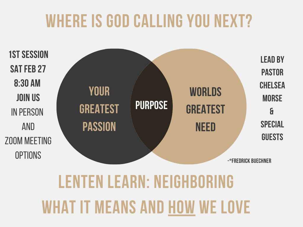 Neighboring Cohort - The what and how of loving your neighbor